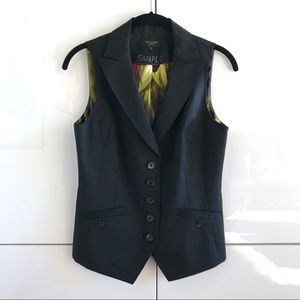 Ted Baker Sample Vest With Printed Back